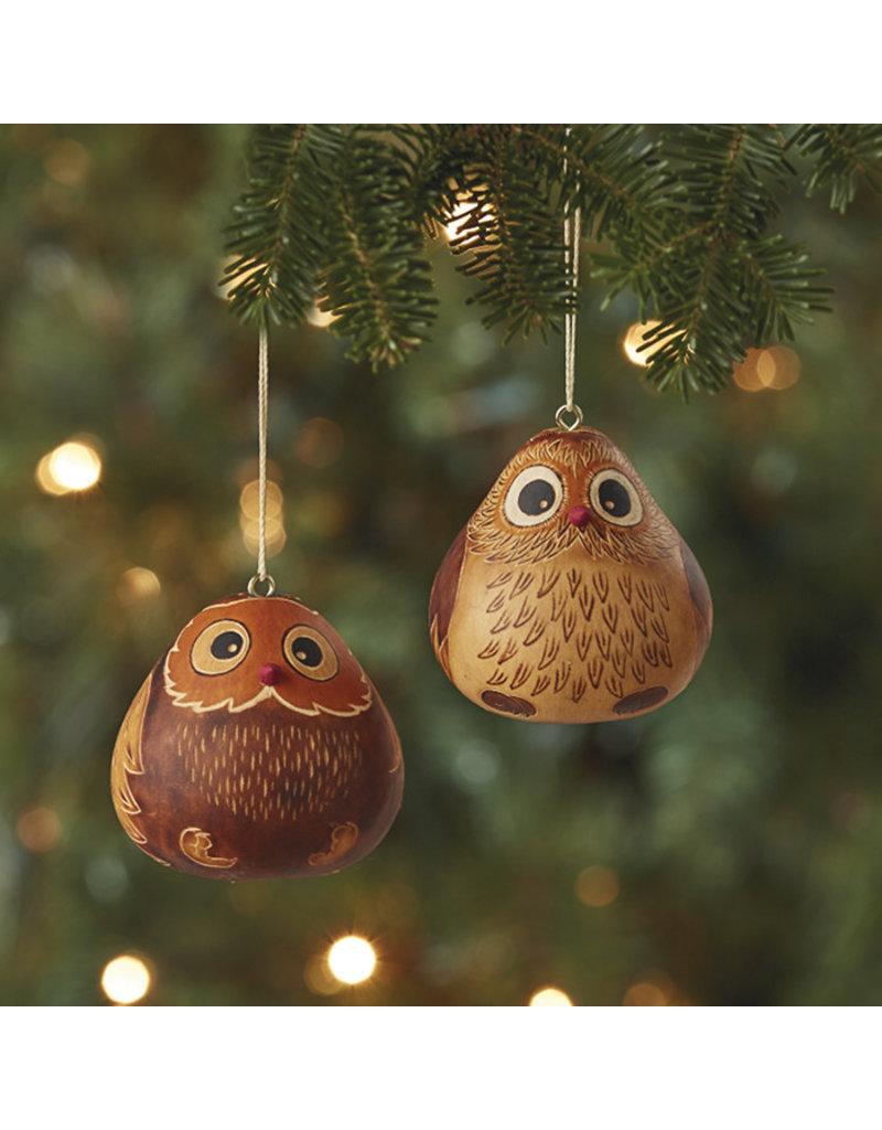Ornament - Owl Gourd