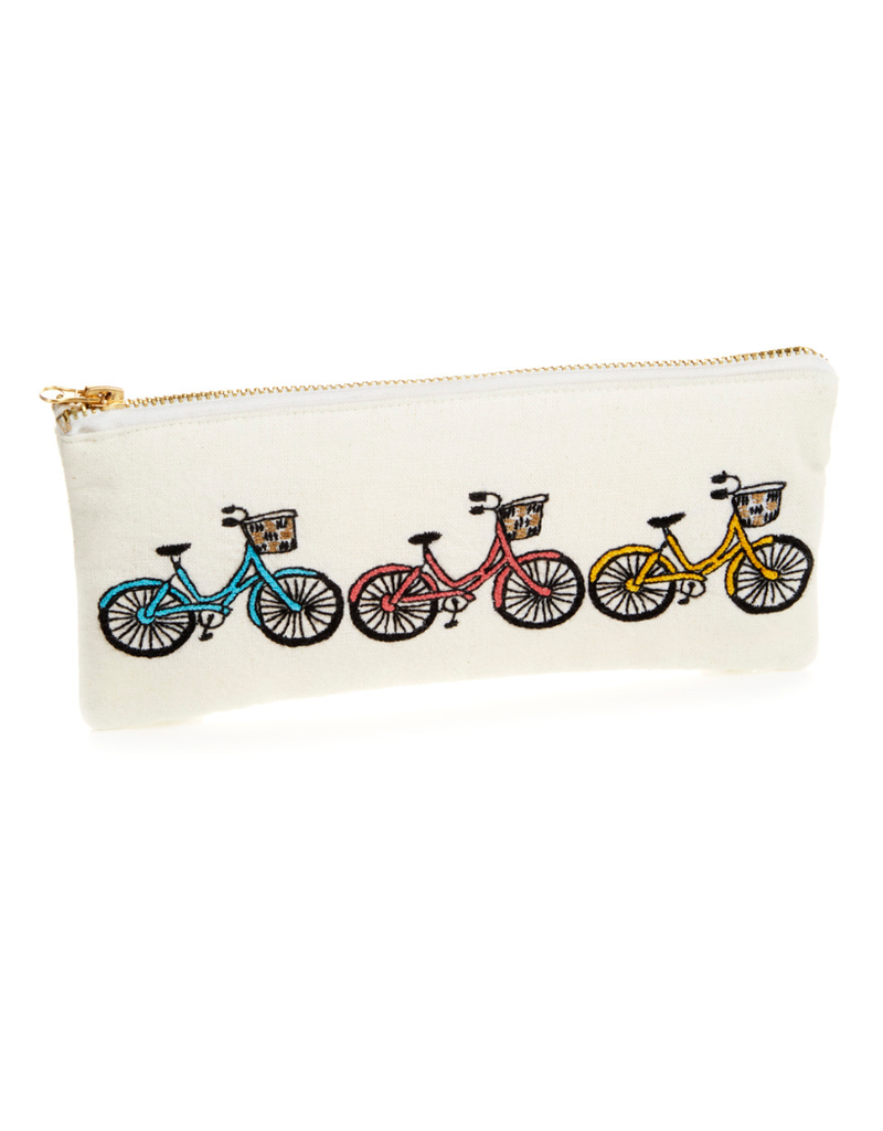 Pouch - Bicycle Trio Zipper Small