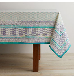 Tablecloth - Aqua Sanganer