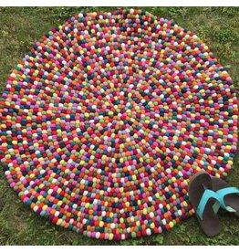 Felt Ball Rug - Circle