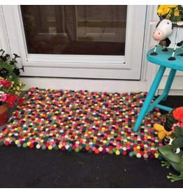 Felt Ball Rug - Rectangle