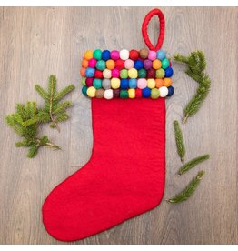 Christmas Stocking - Felt Ball