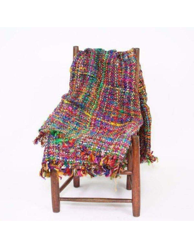 Silk Sari Throw