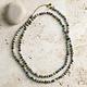 Necklace - Sari Long Cool Tones