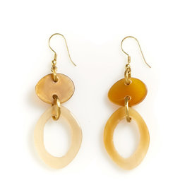 Earrings - Natural Oval