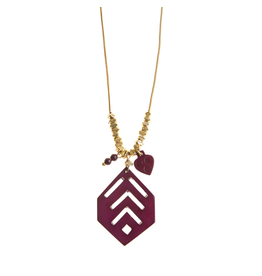 Necklace - Bold Burgundy