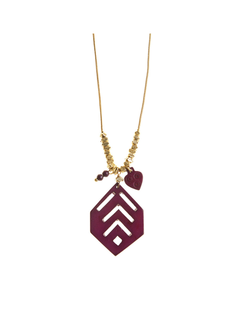 Necklace - Bold Burgundy