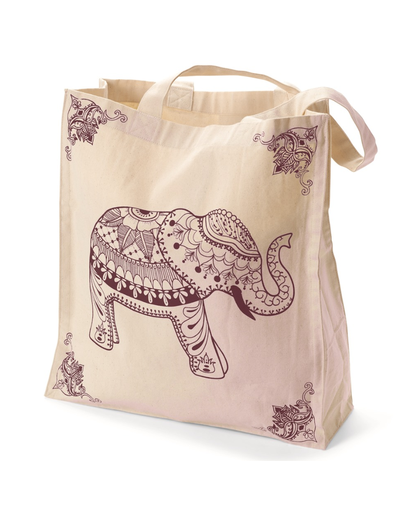 Tote - Elephant Canvas Burgundy