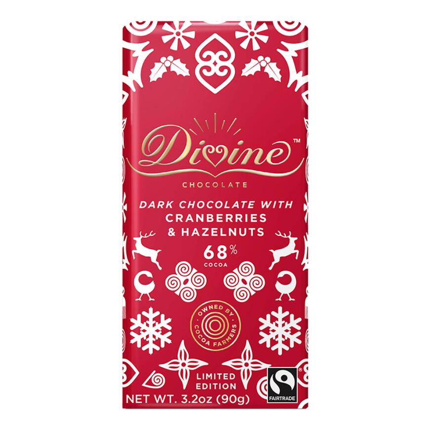 Chocolate Bar - Hazelnuts and Cranberries Dark Chocolate 68%