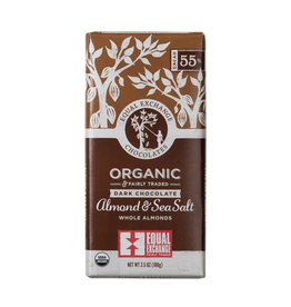 Equal Exchange Chocolate - Dark Chocolate Almond & Sea Salt