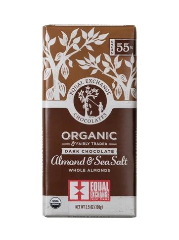Equal Exchange Chocolate - Dark Chocolate Almond & Sea Salt