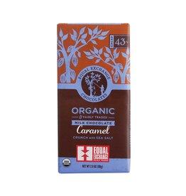Equal Exchange Chocolate, Milk Chocolate Caramel Crunch with Sea Salt