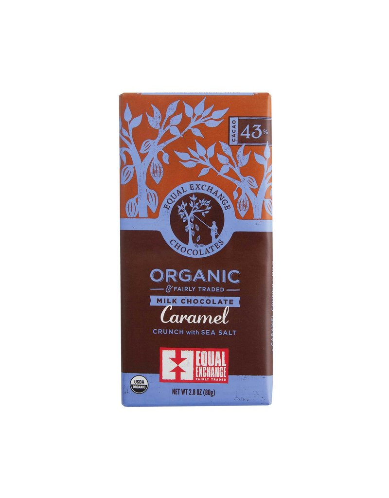 Equal Exchange Chocolate, Milk Chocolate Caramel Crunch with Sea Salt