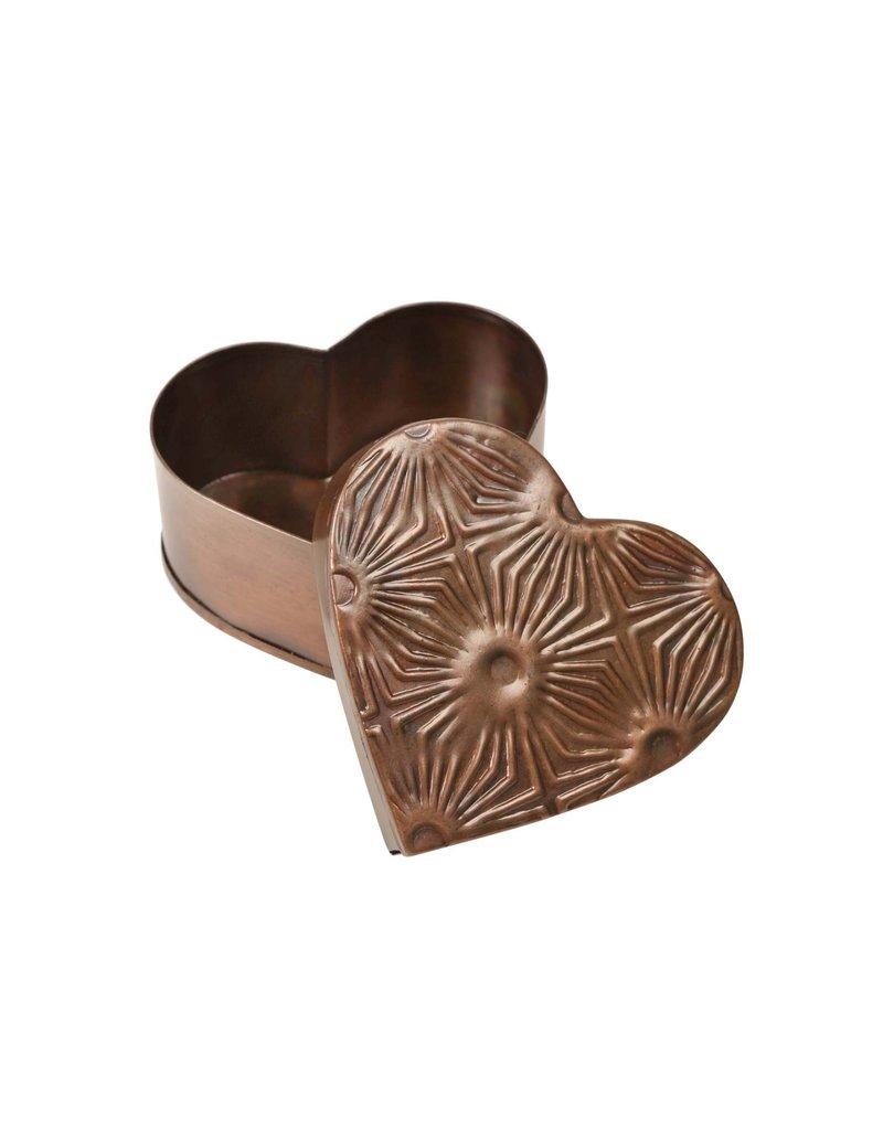 Metal Heart Box - Geometric