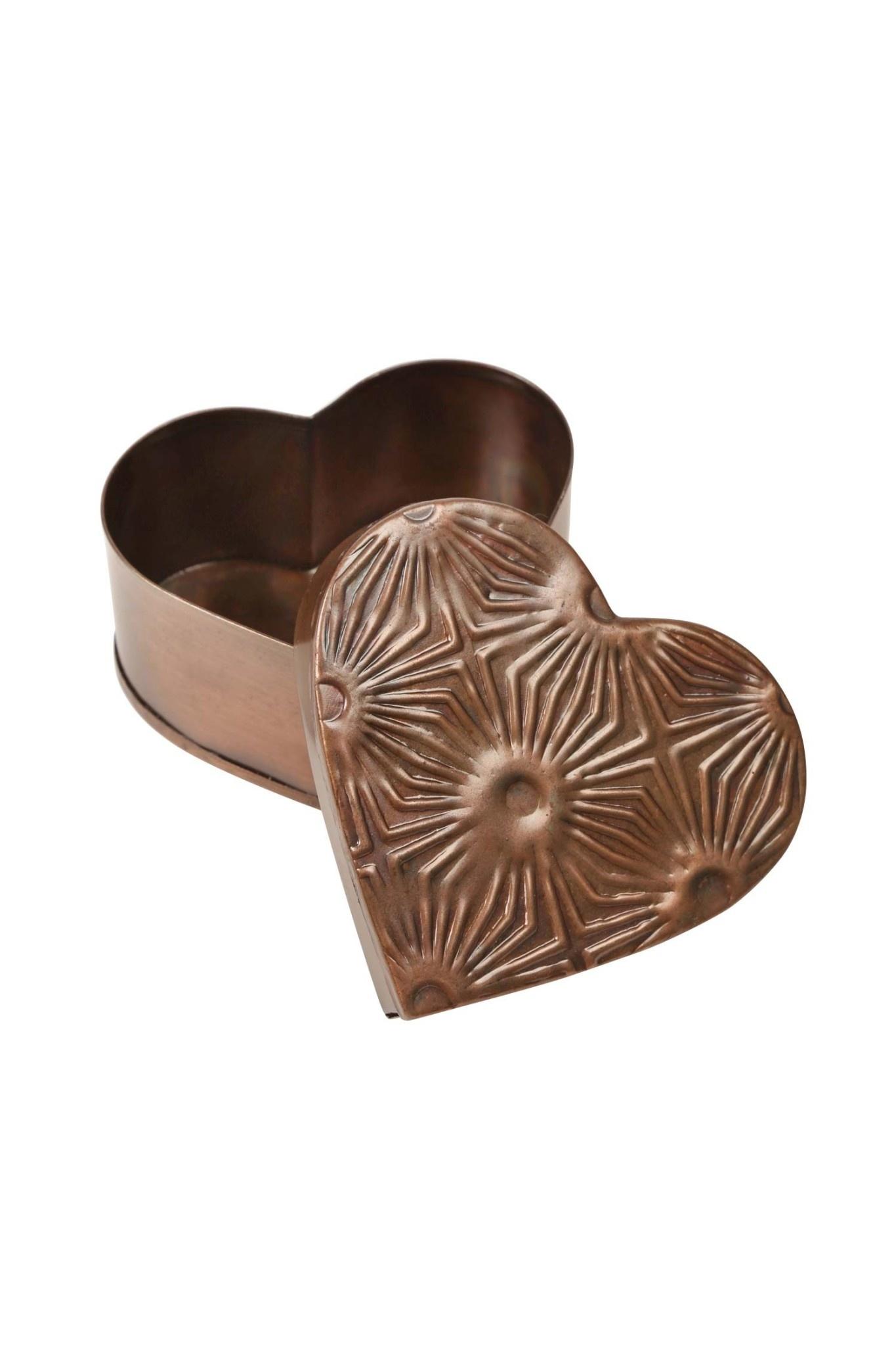 Metal Heart Box - Geometric