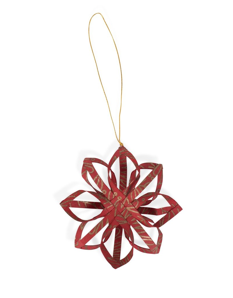 Ornament - Red Star Touch of Gold