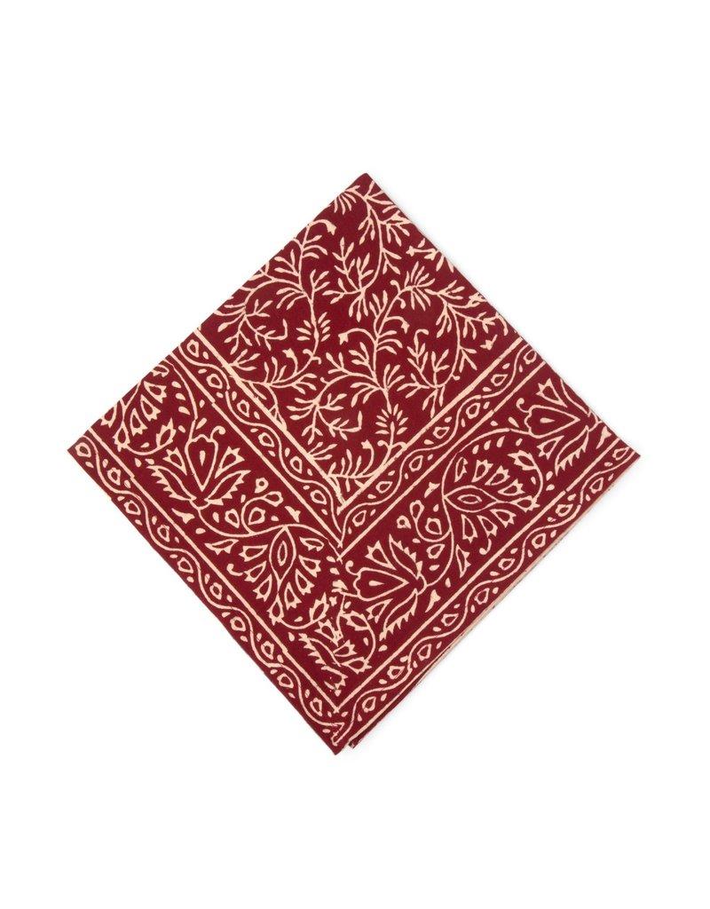 Napkin - Red Vines Block Print