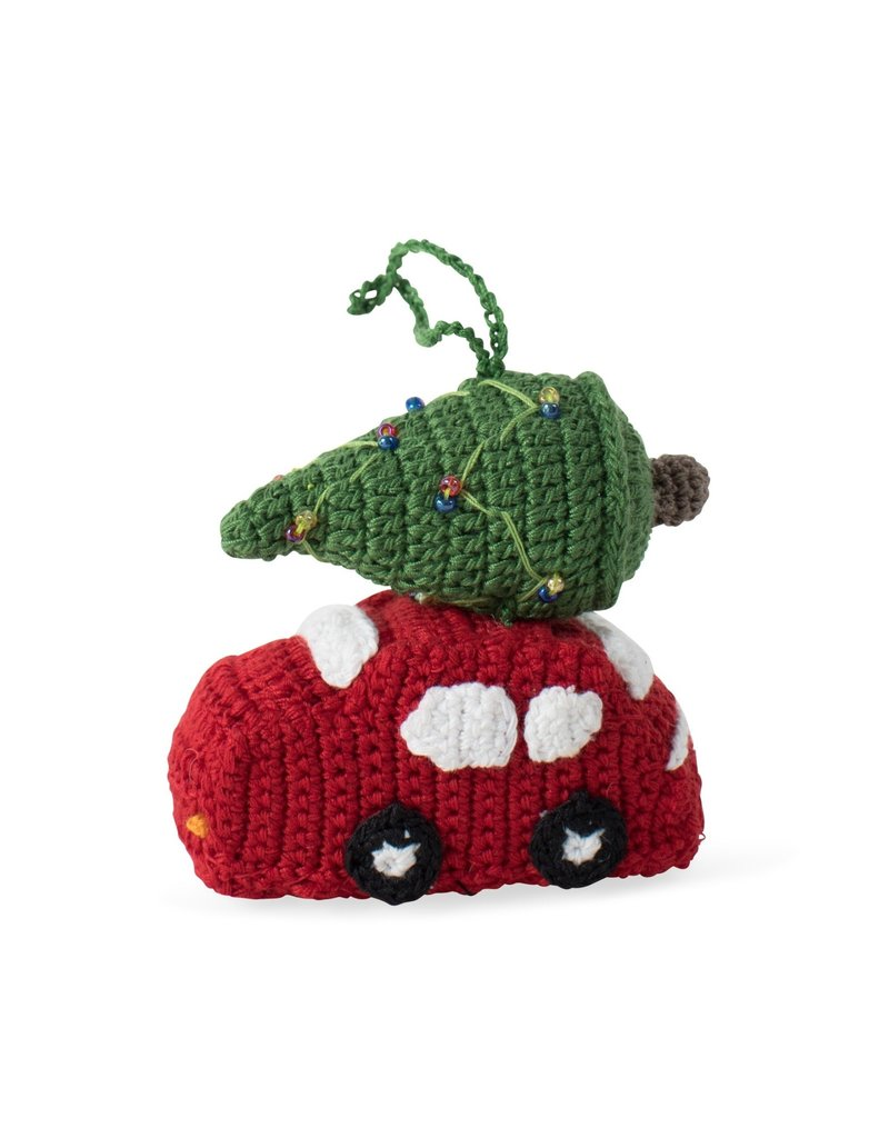 Ornament - Tree on Top Car