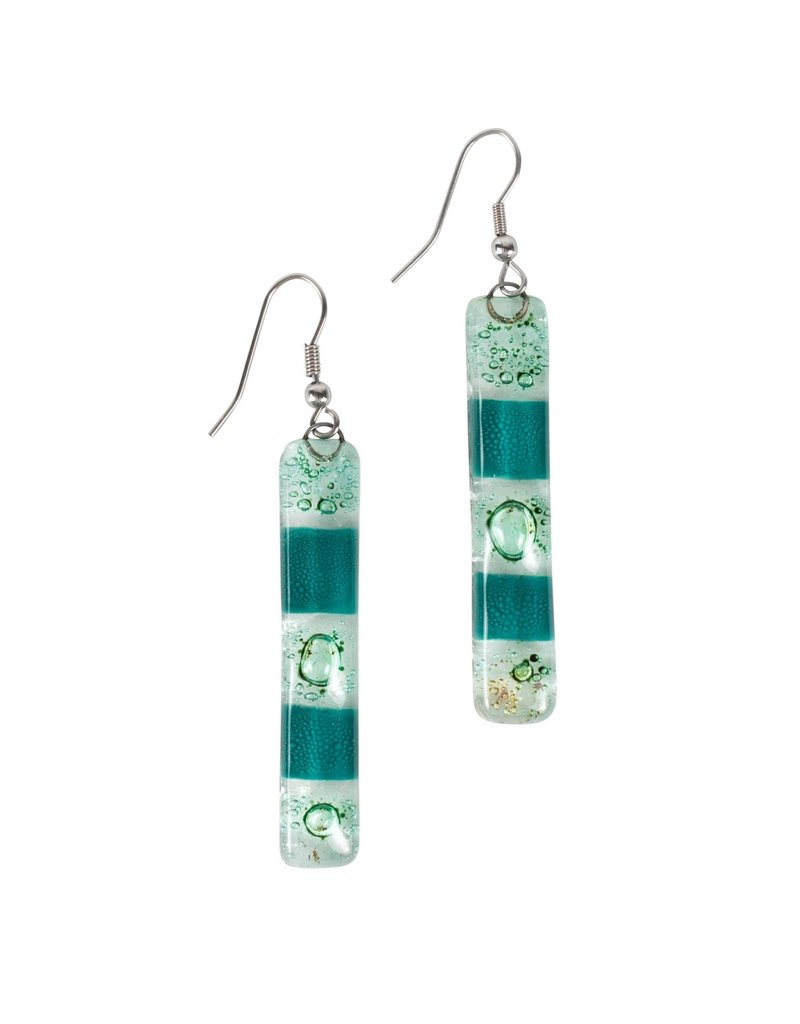 Earrings - Glass Rectangle