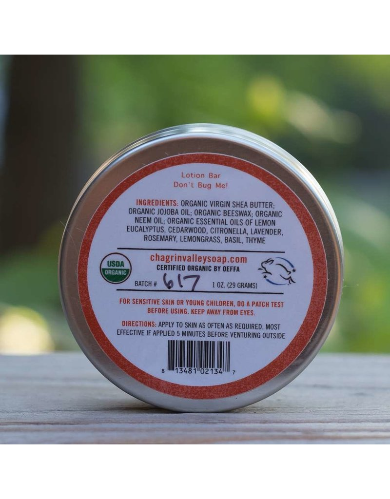 Don't Bug Me! Natural Bug Repellent Lotion Bar