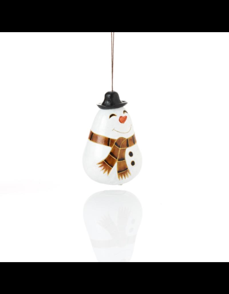 Ornament - Happy Snowman Gourd