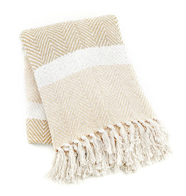 Rethread Throw - Natural Striped