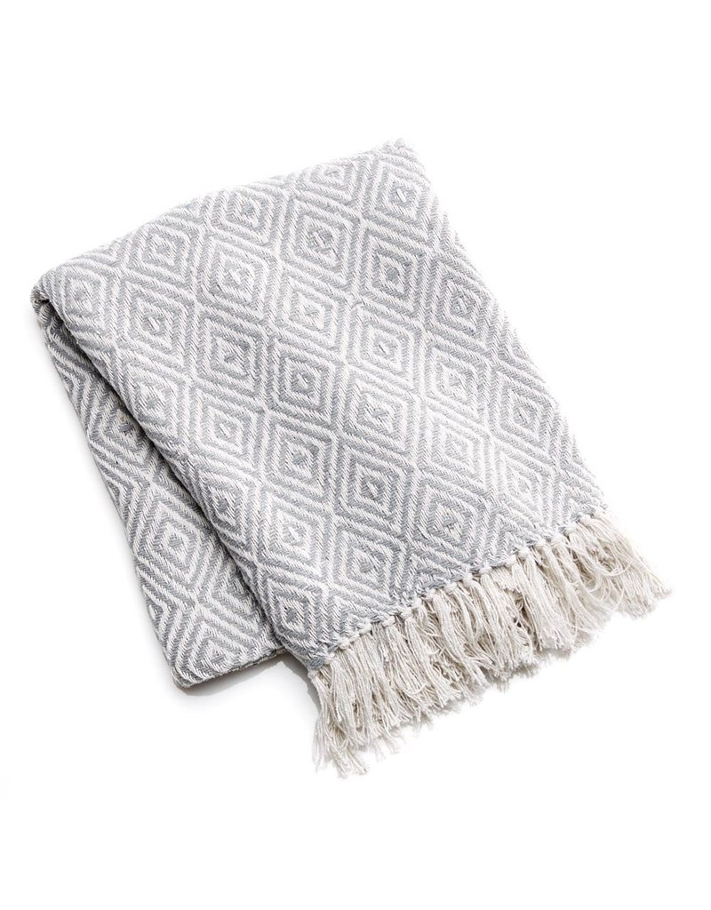 Rethread Throw - Grey Diamond