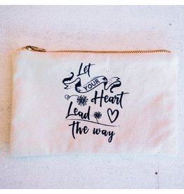 Canvas Zipper Pouch - Let Your Heart Lead