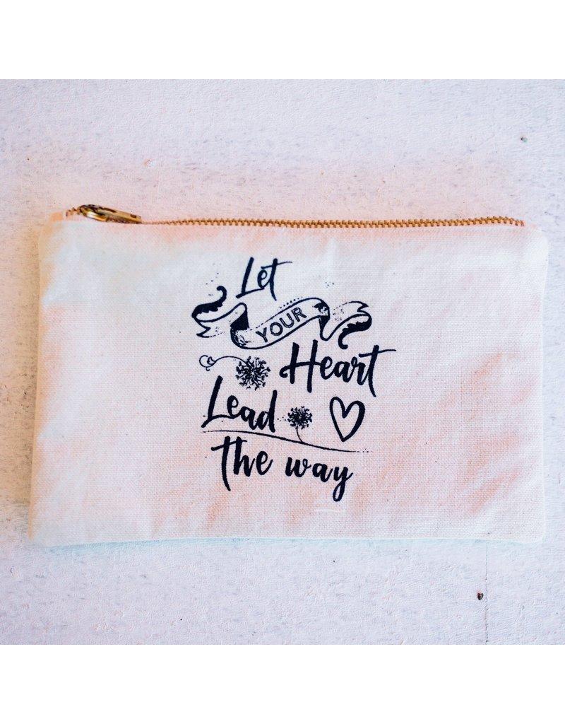 Canvas Zipper Pouch - Let Your Heart Lead