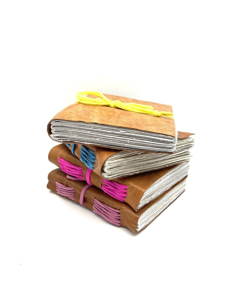 Journal - Laced Binding with Handmade Paper