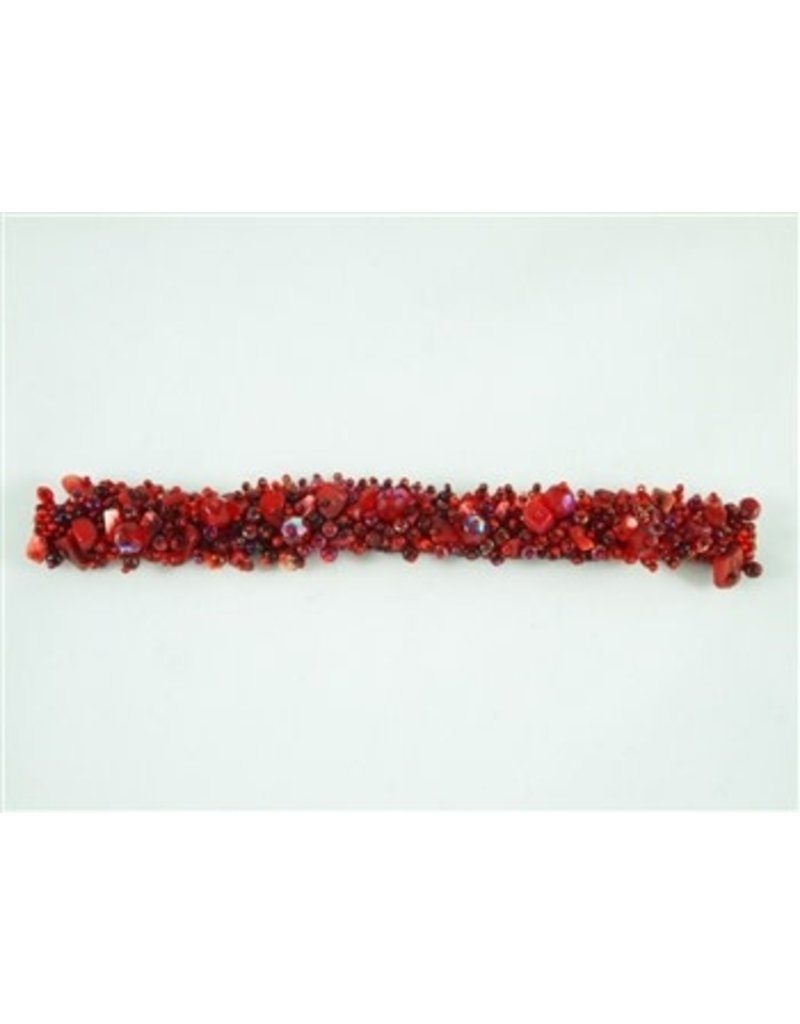 Bracelet - Caterpillar Magnetic Red