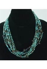 Necklace - Coffee Bean Turquoise