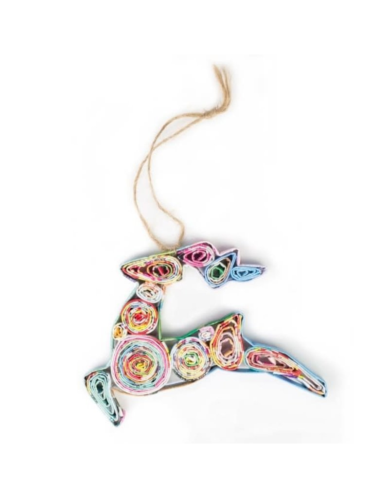 Ornament - Recycled Paper Reindeer