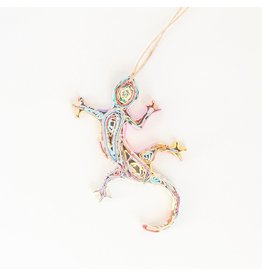 Ornament - Recycled Paper  Gecko