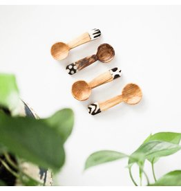 Spoon Set - Olive Wood Bone Accent