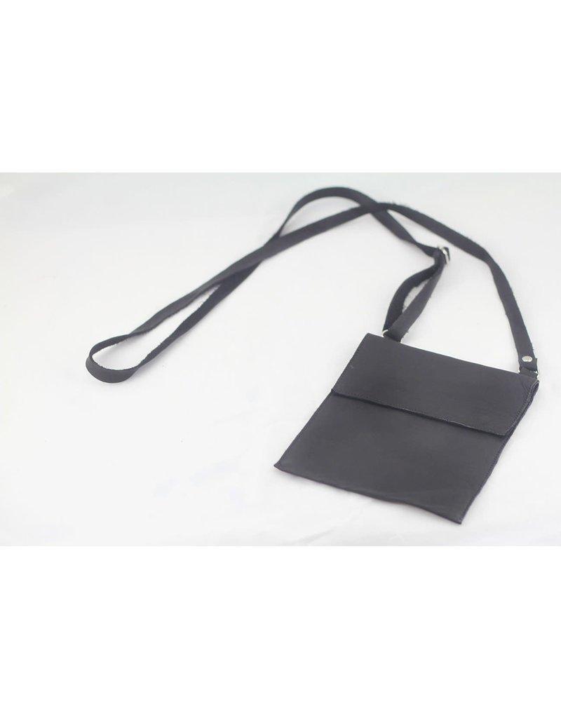 Bag - Cross Body Sheepskin Black