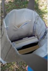 Tote Bag - Small Burlap Book Bag