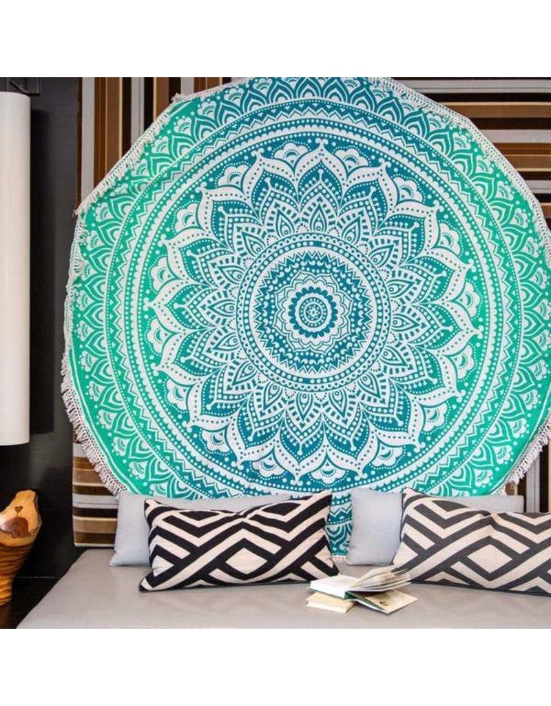 Wall Hanging - Evergreen Om Boho Tapestry
