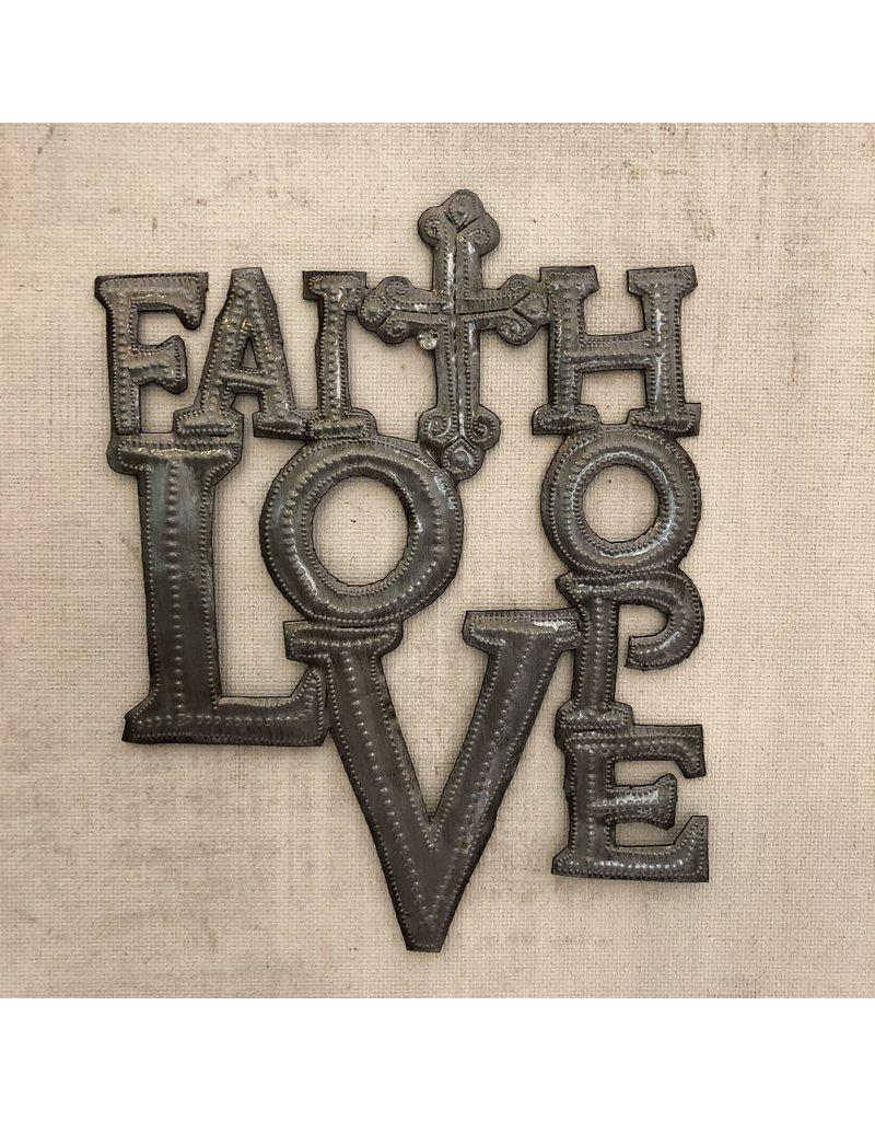 Wall Hanging - Faith Hope Love