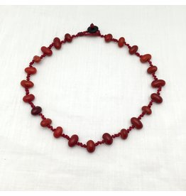 Necklace - Lucia, Red Cord
