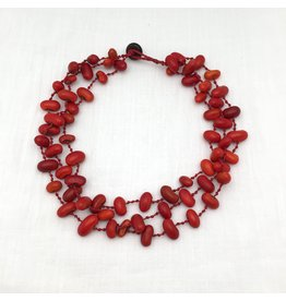 Necklace - Carmela Zompantle, Red Cord