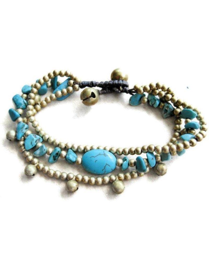 Bracelet - Triplicity Turquoise Thailand