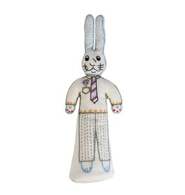 Bunny Boy - Stuffed Cotton Doll Cream/Multi Color