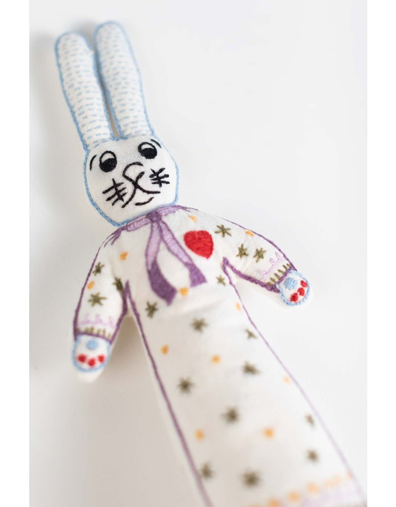 Bunny Girl - Stuffed Cotton Doll Cream/Multi Color