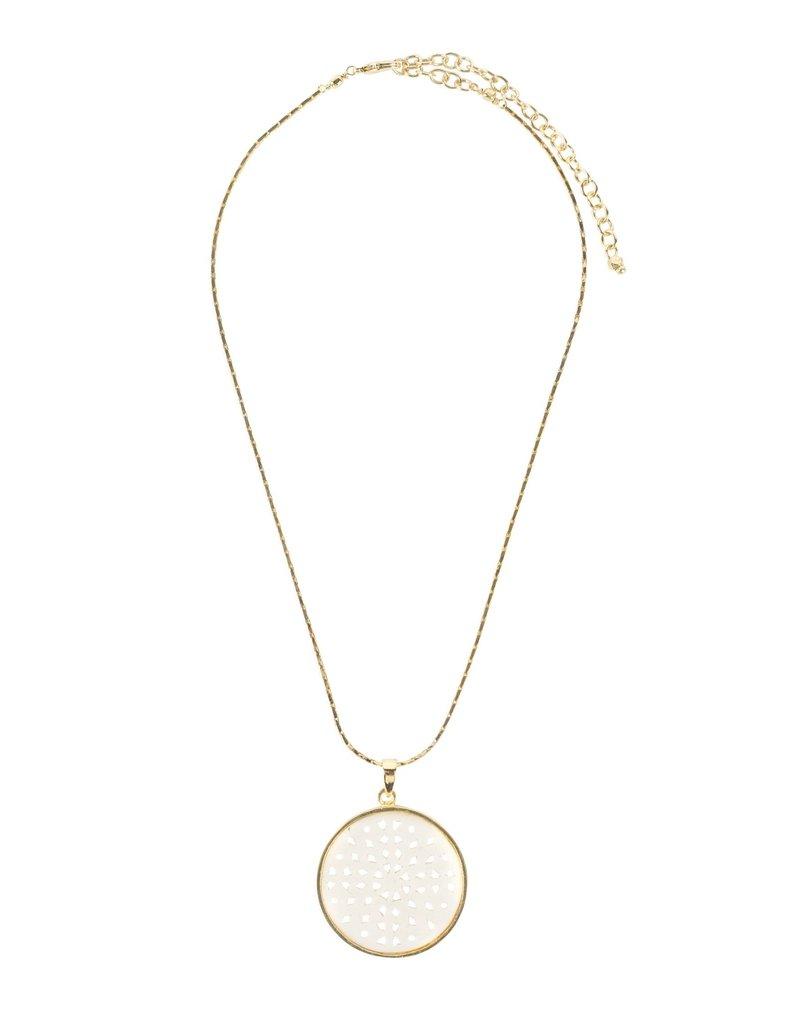 Necklace - Lattice Bone and Gold