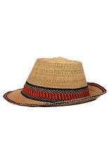 Fedora style hat, Ghana woven