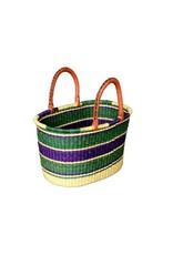 Oval Basket, Ghana woven grass