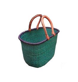 Solid color oval basket, Ghana