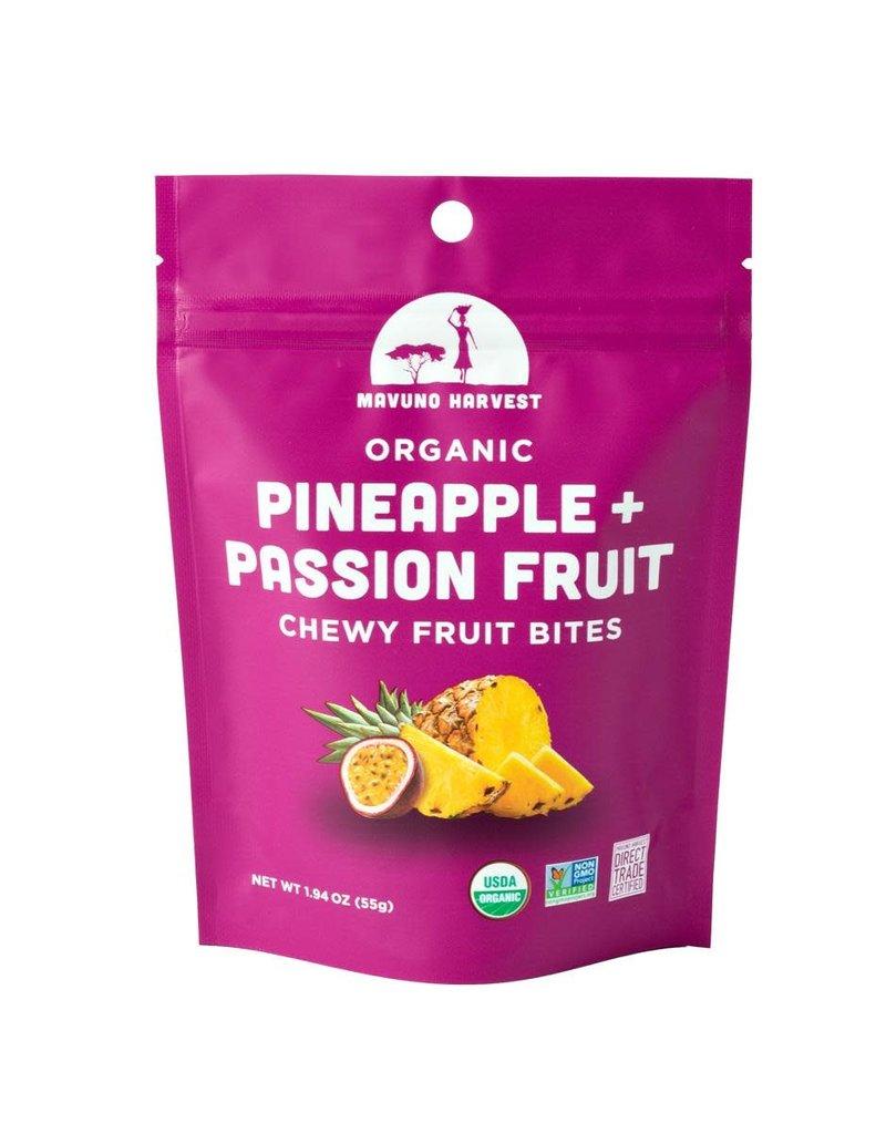 Mavuno Harvest Organic Pineapple & Passion Fruit Bites
