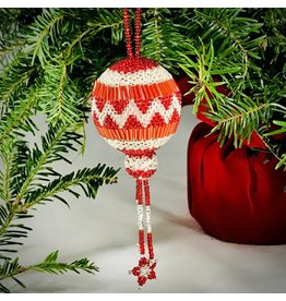 Ornament - Red Holiday Ball